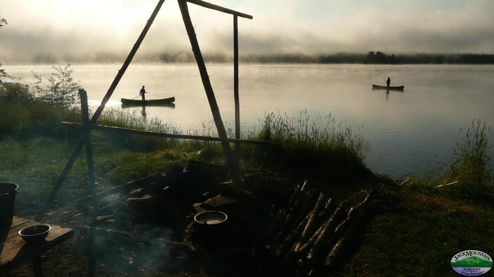 Morning Poling Round Pond
