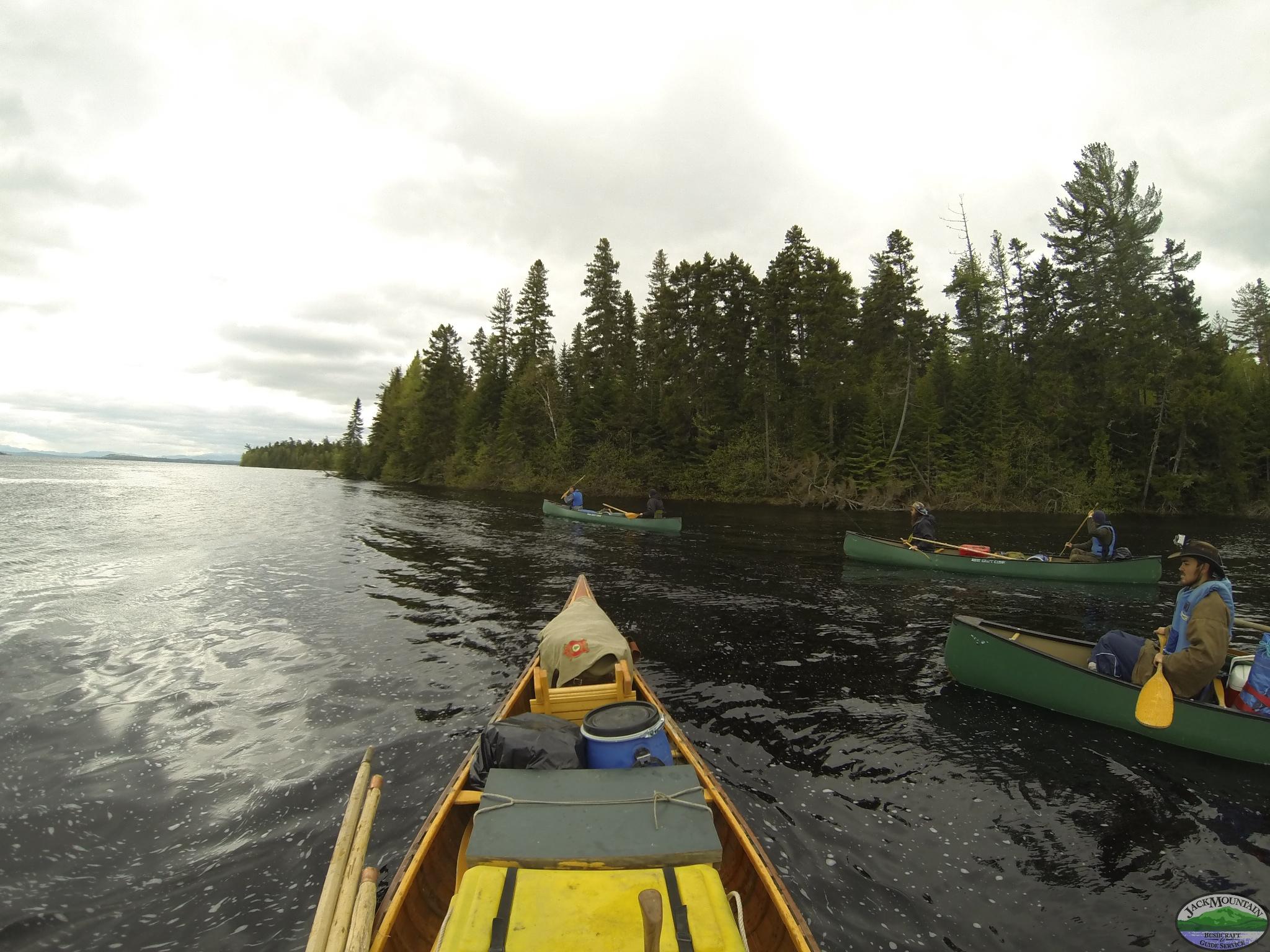 Canoeing Chamberlain Lake