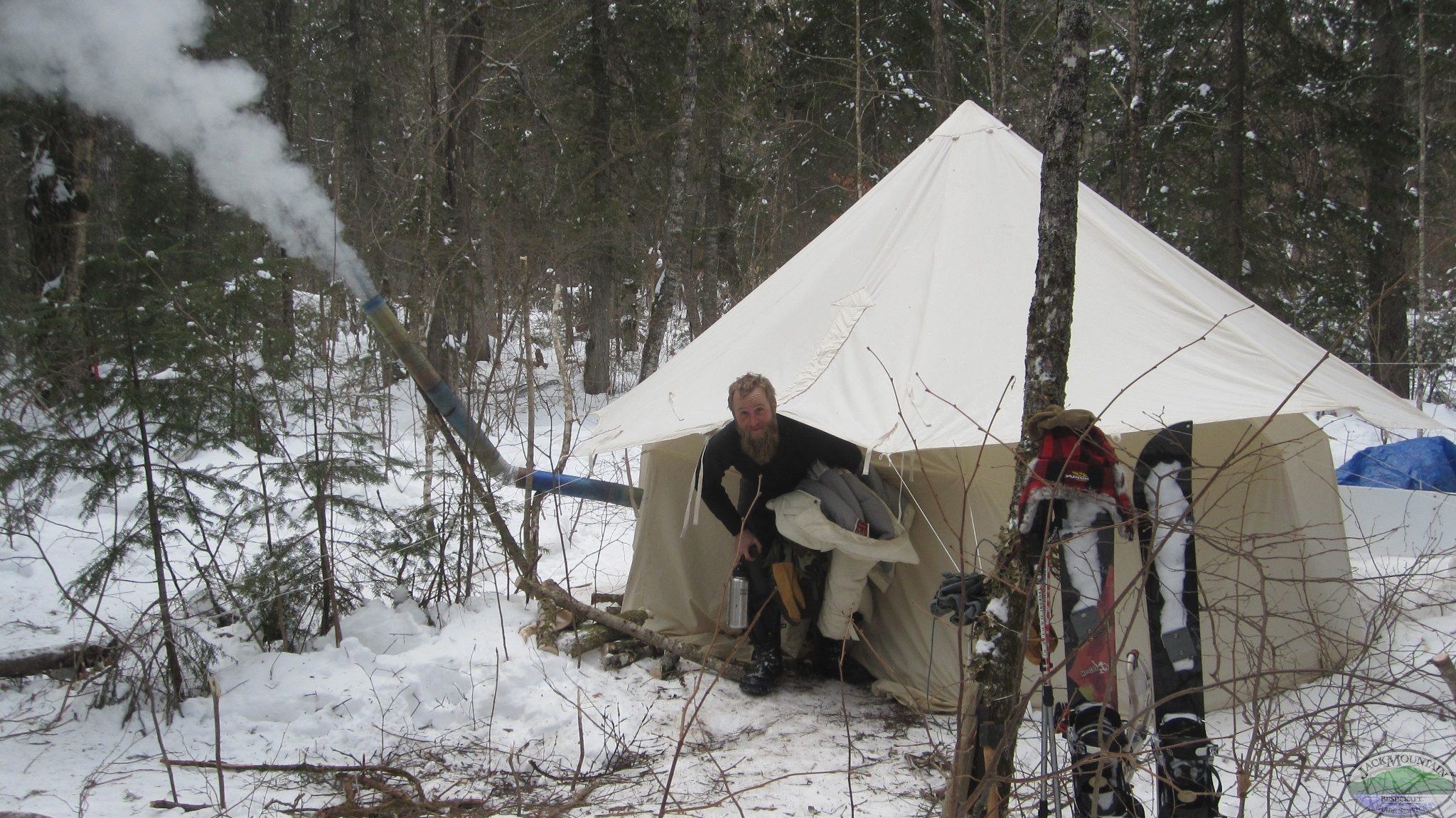 ... Hot Tent ... & Boreal Snowshoe Expedition | 2-Week Maine Winter Survival Course