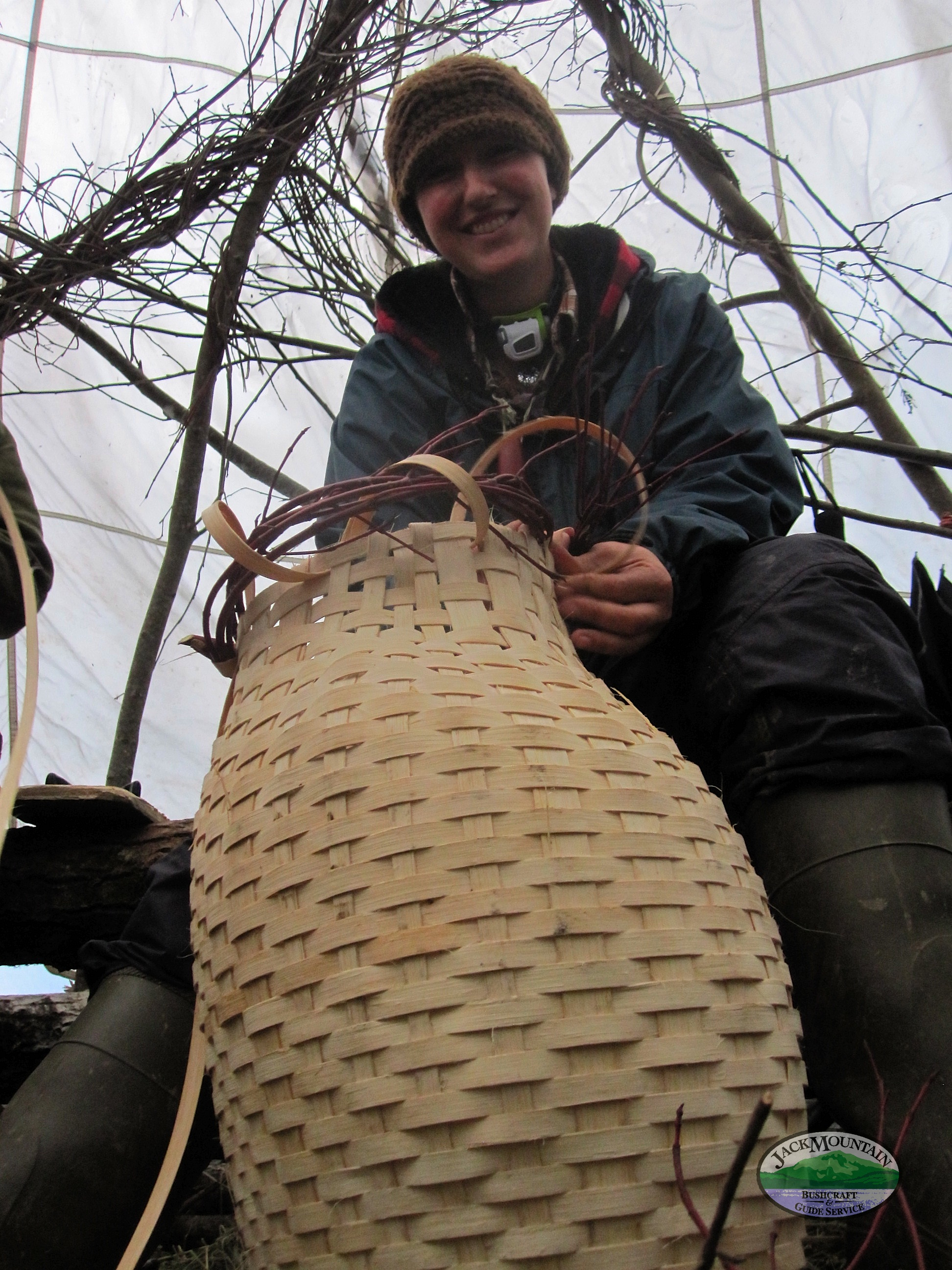 Weaving A Pack Basket