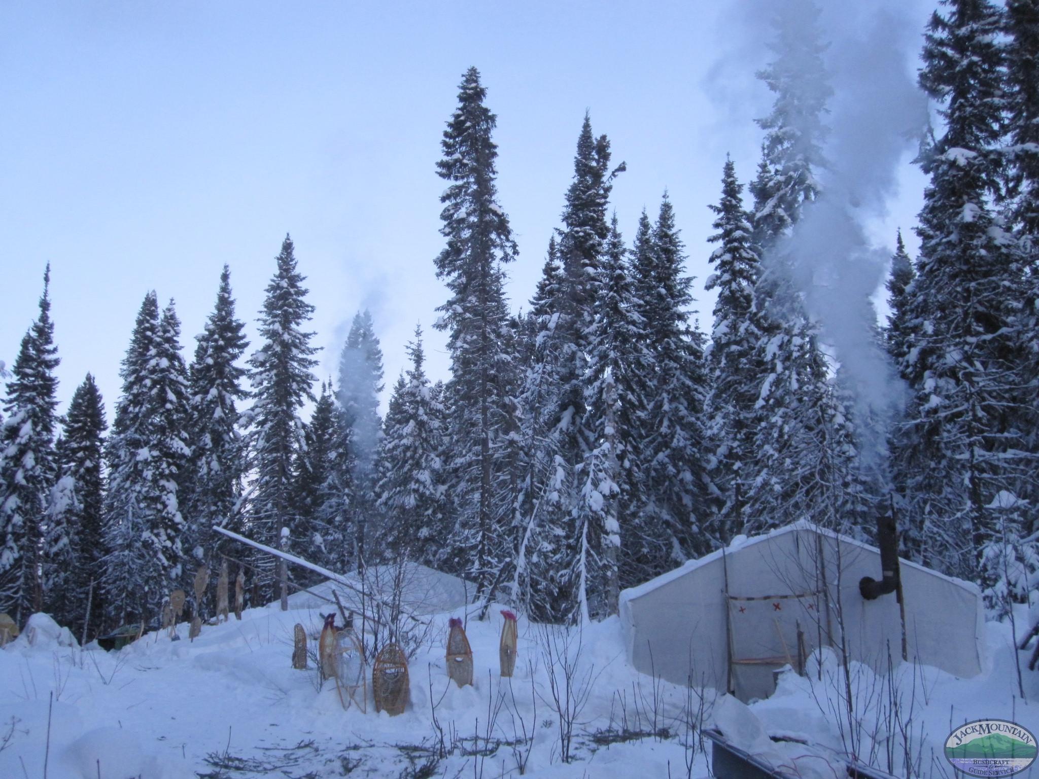 Camp At Forty Below