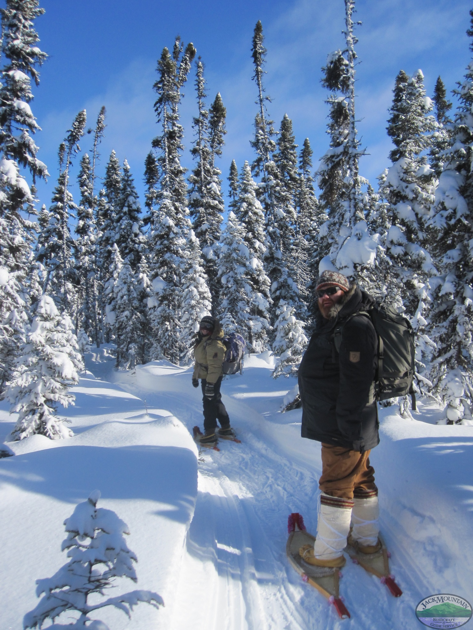 Snowshoeing Down The Trail
