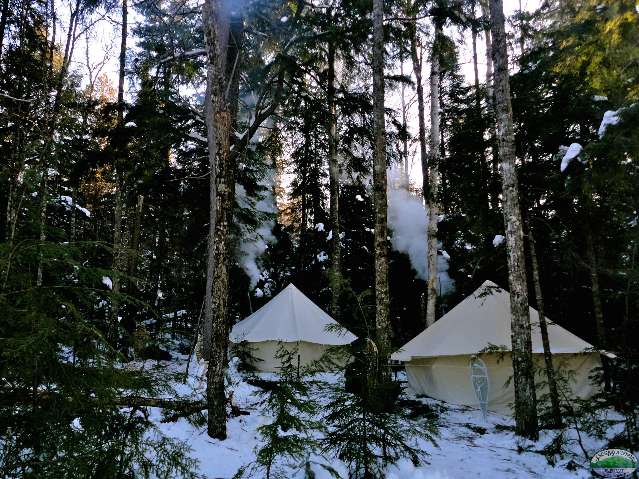 Winter Tents In A Glade