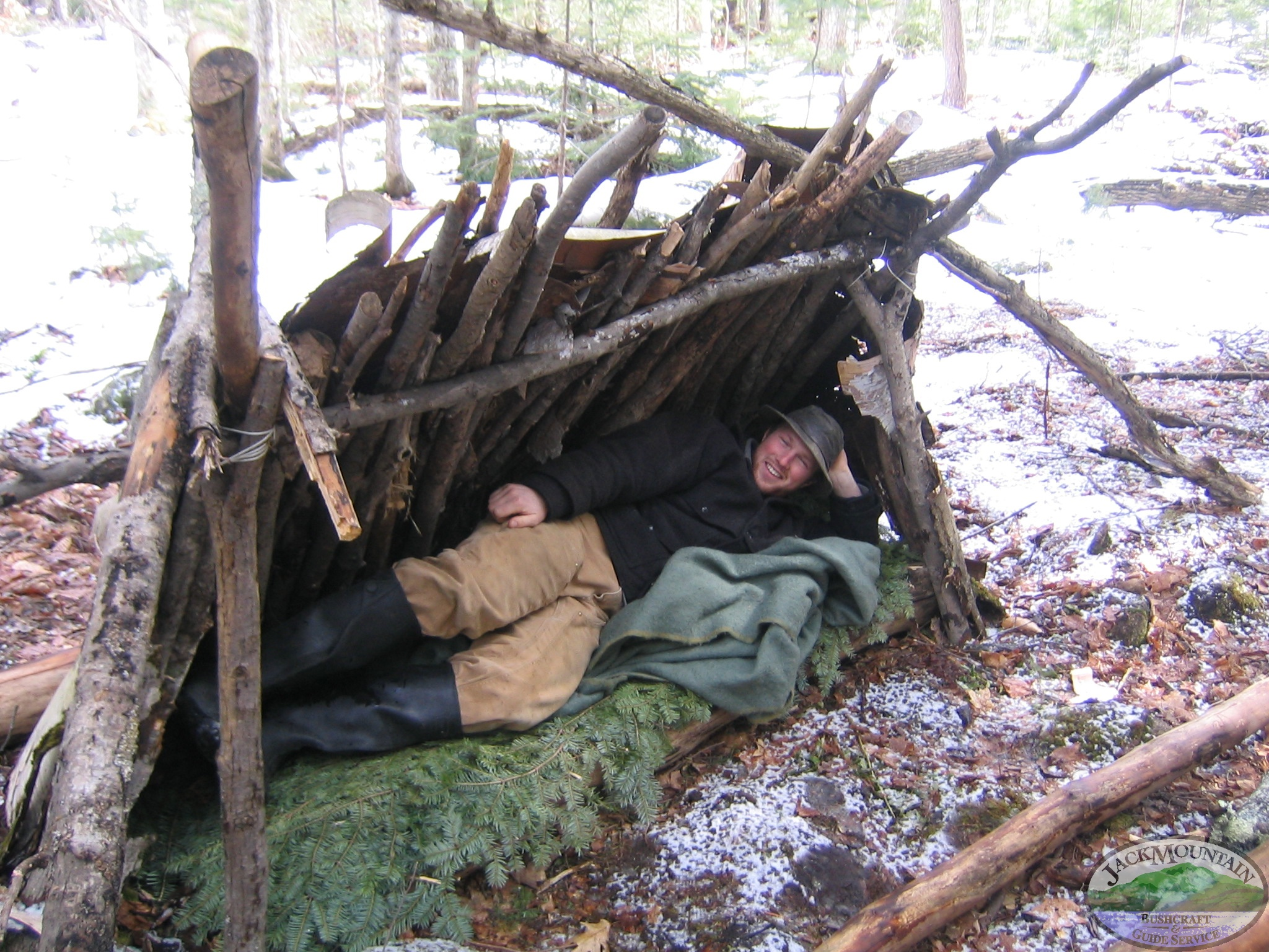Birch Bark Lean-To