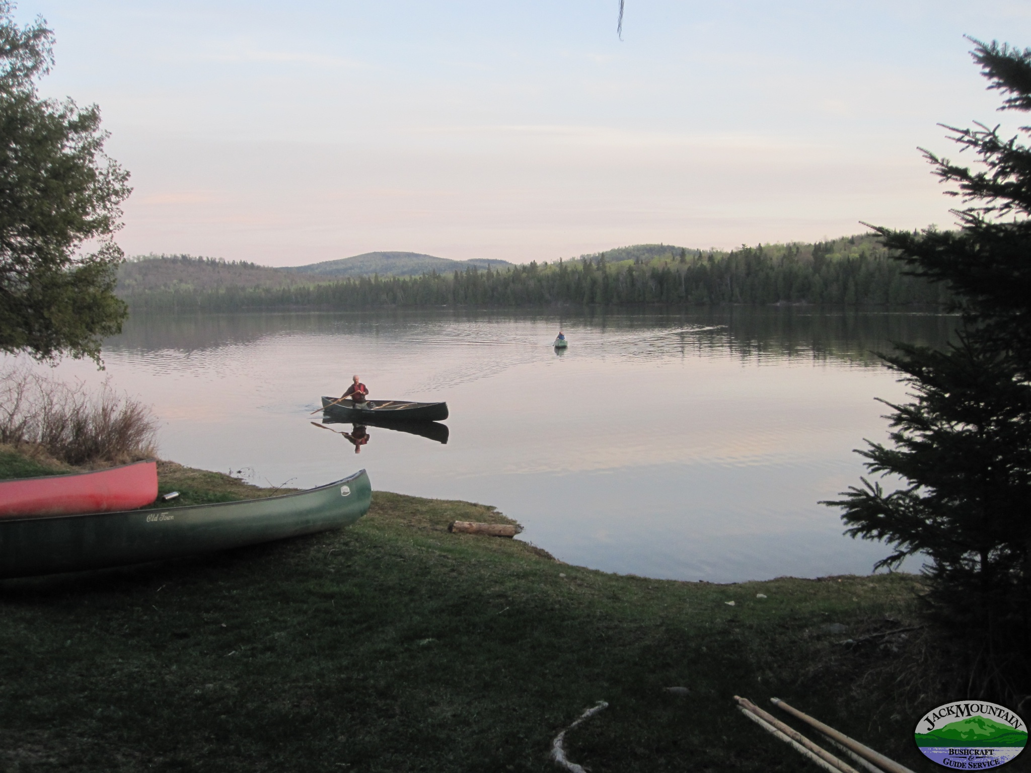 Calm Pond Canoeing