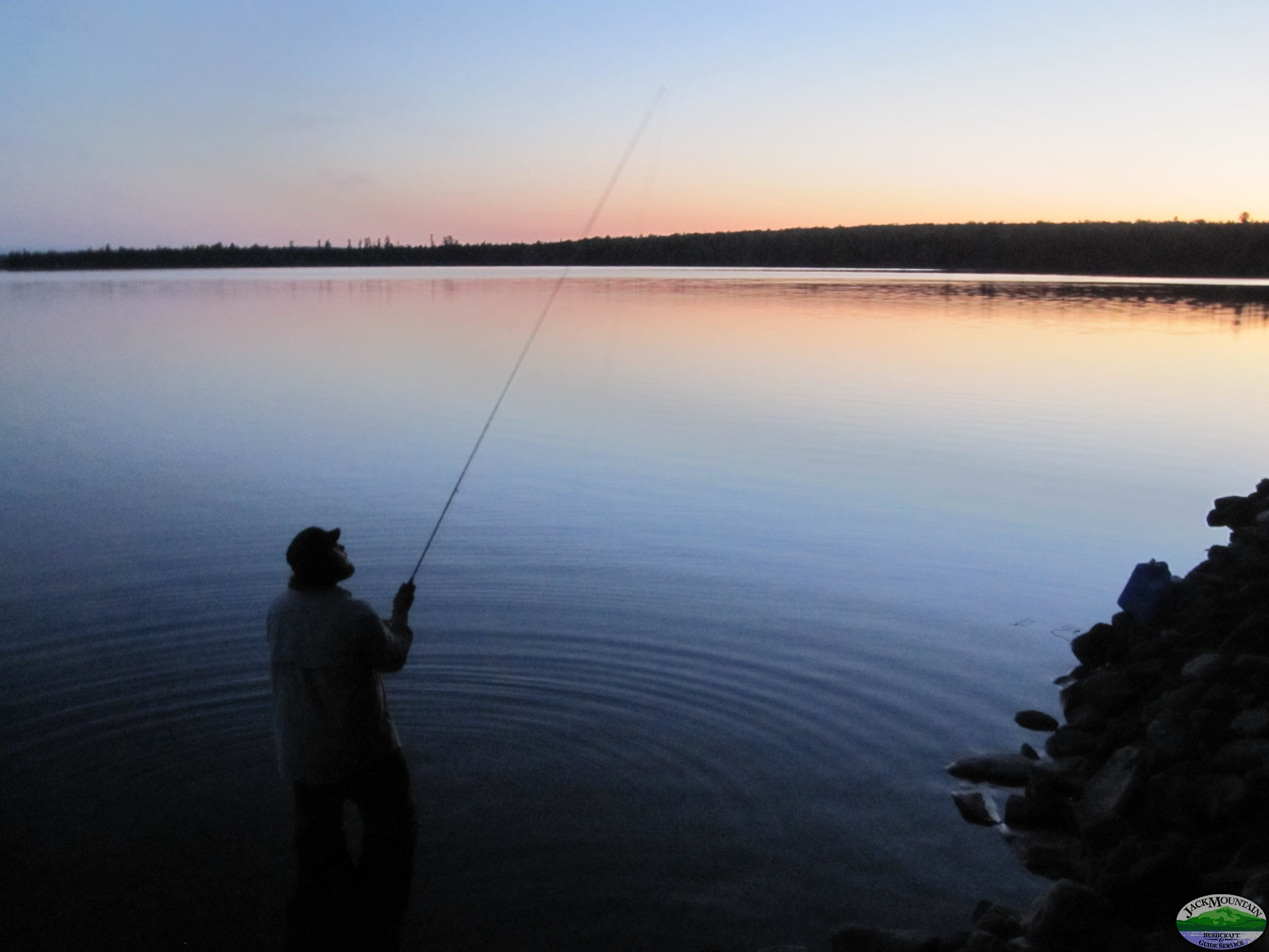 Fly Casting At Dusk