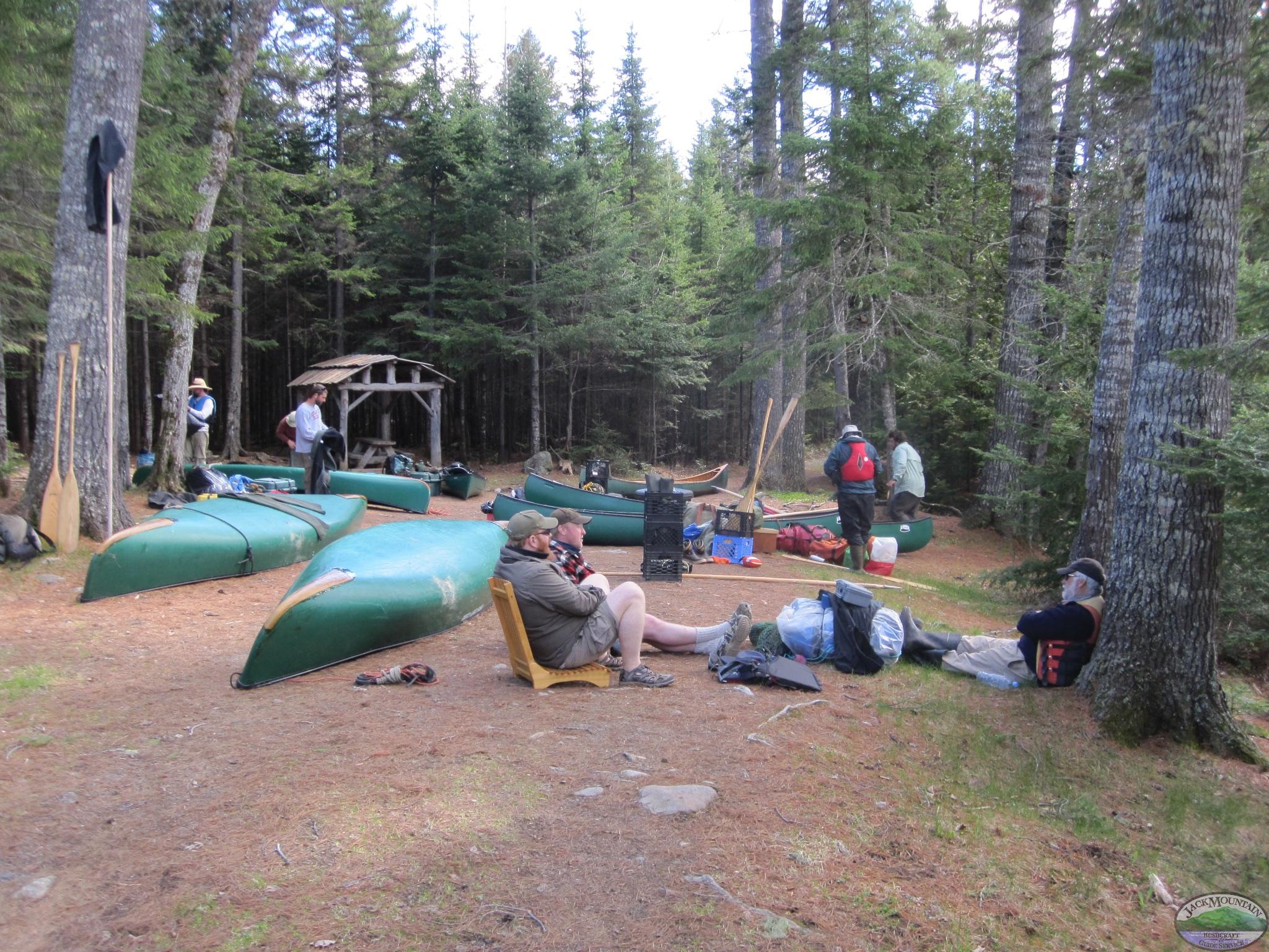 North Maine Woods Campsite